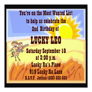 Cowboy/Cowgirl Birthday Party Invitation