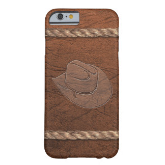 Cowboy / Cowgirl Western Hat, Leather & Rope Barely There iPhone 6 Case
