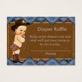 Cowboy Diaper Raffle Insert