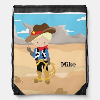 Cowboy Drawstring Backpacks