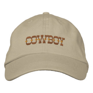 Cowboy Embroidered Baseball Cap