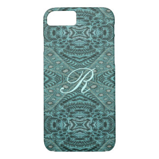Cowboy fashion Western Country Teal Leather iPhone 8/7 Case