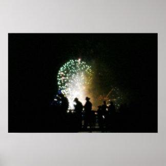 Cowboy Fireworks Poster