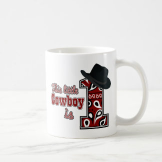 Cowboy First Birthday Mug