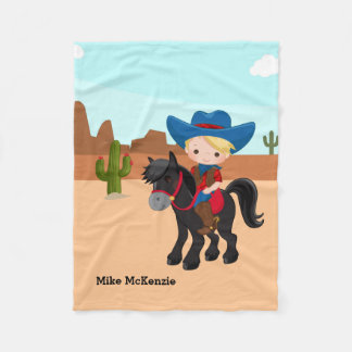 Cowboy Fleece Blanket