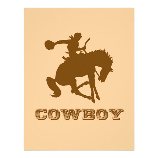 Cowboy Personalized Flyer