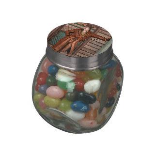 Cowboy Glass Candy Jar
