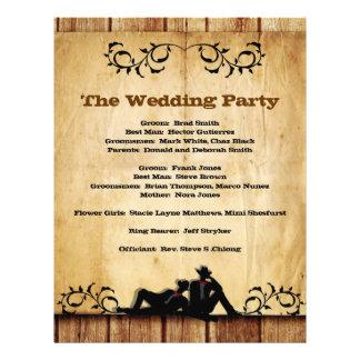 Cowboy Grooms Custom Gay Wedding Programs 21.5 Cm X 28 Cm Flyer