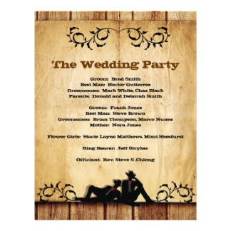 Cowboy Grooms Custom Gay Wedding Programs Flyer