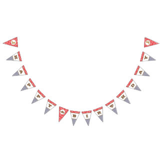 Cowboy Happy Birthday Banner Paisley Gingham