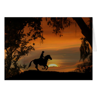Cowboy Happy Trails Happy Birthday Card