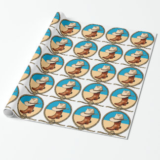 Cowboy Hat and Boots Wrapping Paper