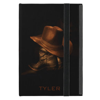 Cowboy Hat and Leather Boots Masculine Personalize iPad Mini Cover