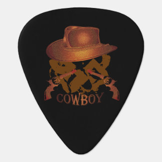 Cowboy Hat Brown Guitar Pick
