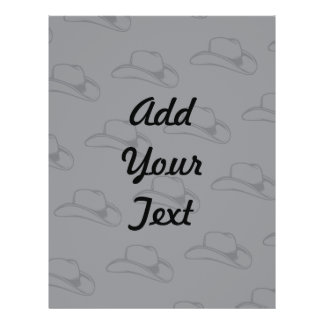 Cowboy Hat Greys Personalized Flyer
