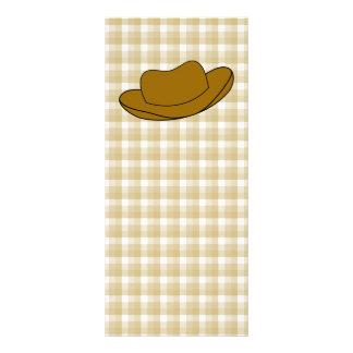 Cowboy Hat illustration. Brown. Rack Card Template