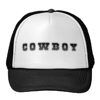 Cowboy Hat - Trucker Style Black and White