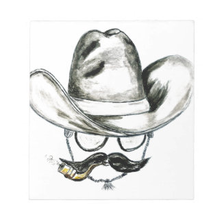 Cowboy Hat Watercolor Notepad