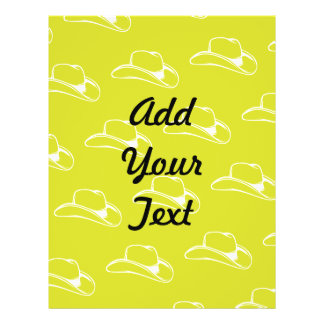 Cowboy Hat White Yellow Personalized Flyer