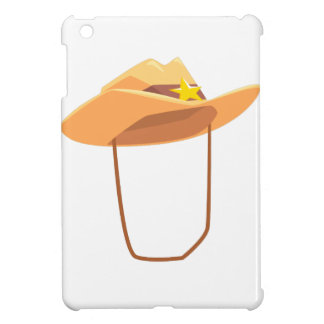 Cowboy Hat With Attaching String Drawing Isolated Case For The iPad Mini