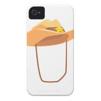 Cowboy Hat With Attaching String Drawing Isolated iPhone 4 Case-Mate Cases