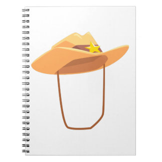 Cowboy Hat With Attaching String Drawing Isolated Notebook