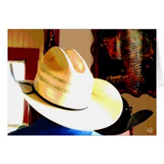 Cowboy Hats at Texas 290 Diner, Johnson City, TX Card