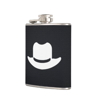 Cowboy Hats Pictogram Hip Flask