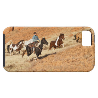Cowboy herding horses iPhone 5 case