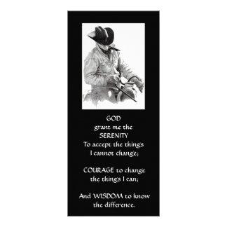 COWBOY, HORSE: ART: SERENITY PRAYER RACK CARDS