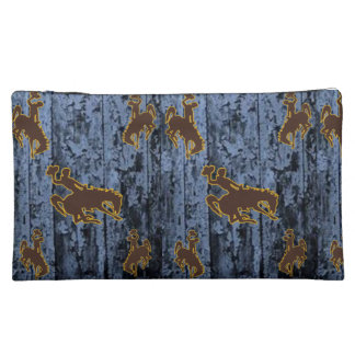cowboy horse girls baggette cosmetic bag