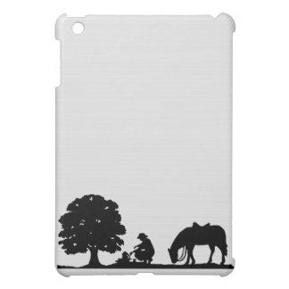 Cowboy & Horse Silhouette  iPad Mini Covers