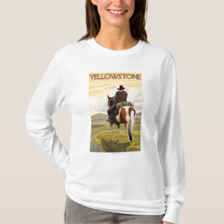 Cowboy & Horse - Yellowstone National Park T-Shirt