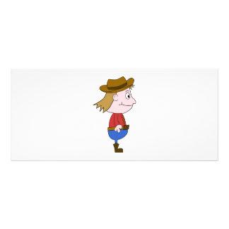 Cowboy illustration rack card design
