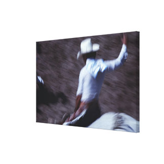 Cowboy in a Rodeo 4 Gallery Wrapped Canvas