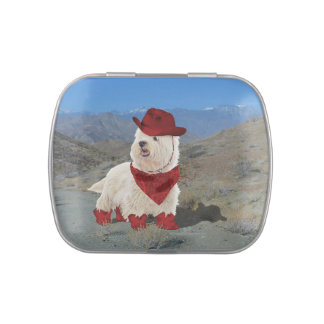 Cowboy in Boots Candy Tin