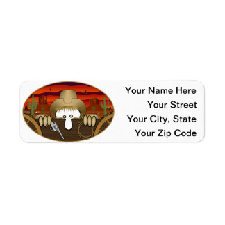 Cowboy Kilroy Address Label