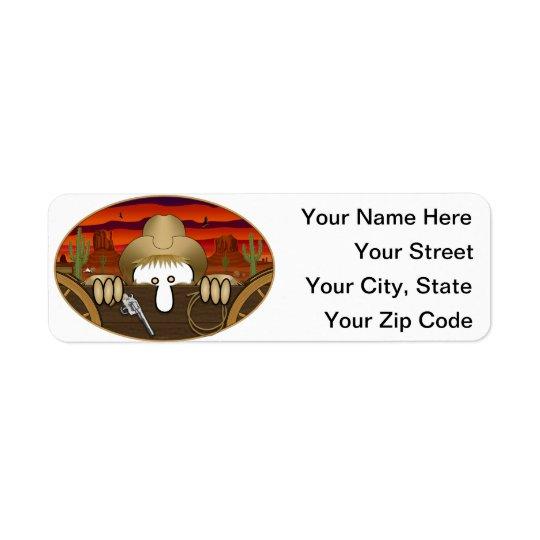 Cowboy Kilroy Address Label