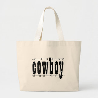 Cowboy Large Tote Bag