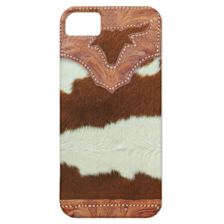 Cowboy Leather and Cowhide Barely There iPhone 5 Case