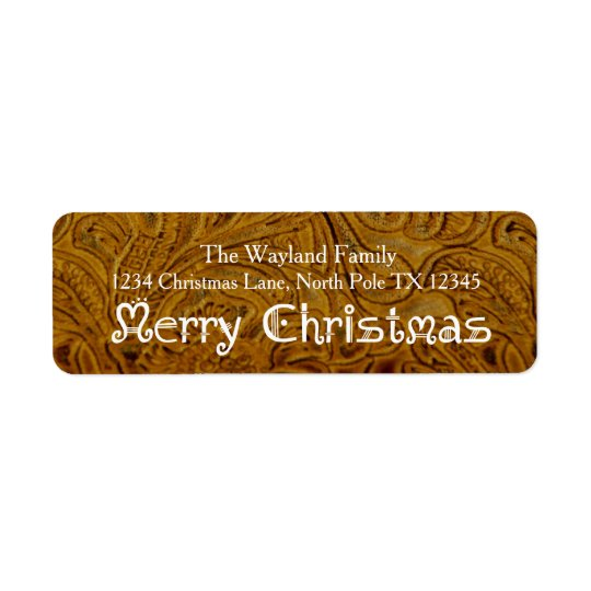 Cowboy Leather Holiday Address Labels