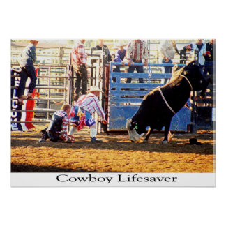 Cowboy Lifesaver Poster