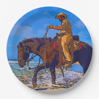 Cowboy Mounted Paper Plate