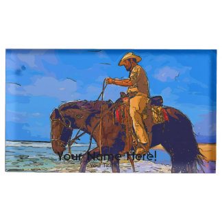 Cowboy Mounted Place Card Holder