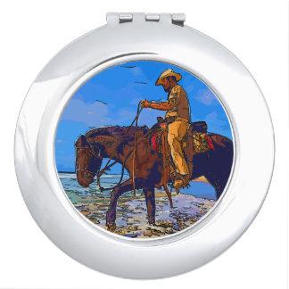 Cowboy Mounted Vanity Mirror