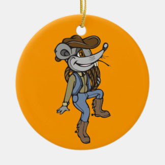 Cowboy Mouse Christmas Ornaments