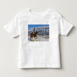 Cowboy on Horse wearing Leather Chaps 2 T Shirt