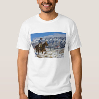 Cowboy on Horse wearing Leather Chaps 2 T-shirts