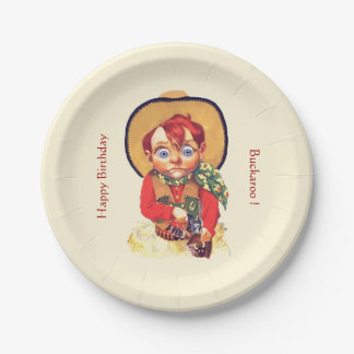 Cowboy Party 7 Inch Paper Plate