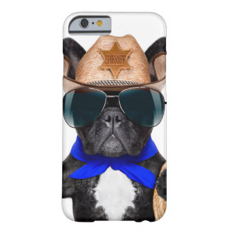 cowboy pug - dog cowboy barely there iPhone 6 case